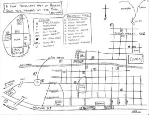 potrero chico mexico, map, map of hidalgo, hidalgo, nuevo leon, rock climbing